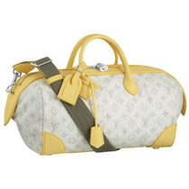 Bolso Louis Vuitton Monogram Denim Speedy Ronda - Amarillo