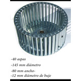 Ventilador De Turbina, Galvanizada 145x80 40p Izq.boc.1/2