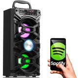 Caixa De Som Bluetooth Torre Portátil Mp3 Usb Rádio Fm Sd