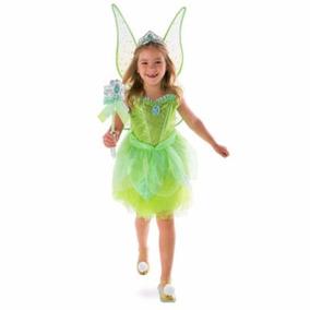 Disfraz Vestido Campanita Tinker Bell Luces Disney Store