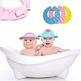 Gorra De Baño Para Bebe Medida Ajustable Color *azul*