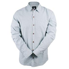 Camisa Lost Botone Cinza Mescla