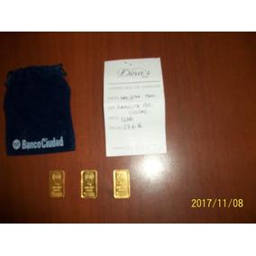 Lingotes De Oro De 5 Grs Banco De La Ciudad