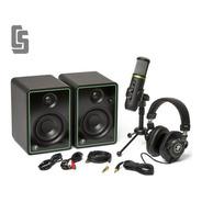 Monitores Mackie Cr3-x + Microfono Condenser Usb + Auricular