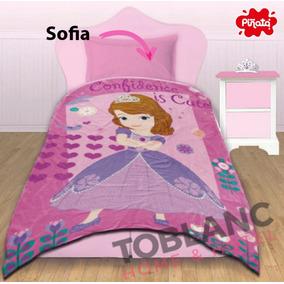 Sábana Y Frazada Sofia Mickey Frozen Barbie Set Infantil