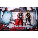 Set Martillo De Thor + Muñecos De Thor Y Loki