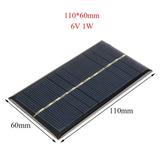 Placa Solar Célula Energia Painel Fotovoltaica 6v 1w 220ma
