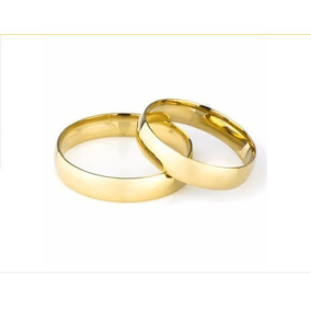 Alianças Baratas Casamento Noivado Em Ouro 18k 4 Gr