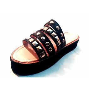Sandalias Mujer Sam123 Cuero Talles Grandes Gomon Tiras