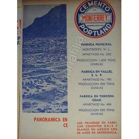Publicidad Antigua De Monterrey Cemex Años 1950s Qqx