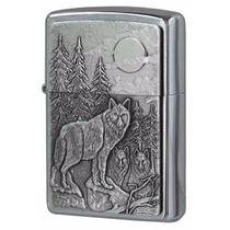 Encendedor Zippo Timberwolves Lobos Luna Llena Modelo 20855