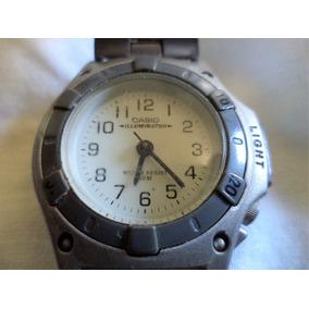 Relógio Casio Lx 58 Illuminator Bracelete Assinado Em Aço