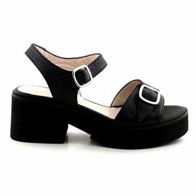 Sandalia Cuero Mujer Briganti Zapato Confort - Mcsd04558