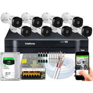 Kit Intelbras 8 Camera Vhd 1010b Dvr 8c Mhdx C/hd 1 Tb