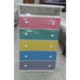 Gavetero 5 Gav C/espacio Colores Pasteles Mdf Infantil