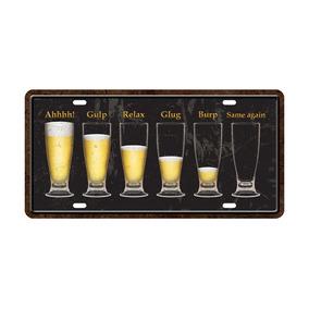 Placa Decorativa Placa De Carro Fases Da Cerveja - Cia Laser