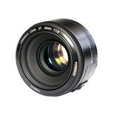 Lente Yongnuo 50mm F/1.8 Para Canon + Kit Limpieza +parasol
