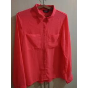 Camisa Feminina Chiffon Coral