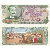 Billete Costa Rica 5 Colones 1990 Unc