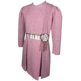 Vestido Para Niña Color Palo De Rosa