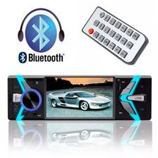 Rádio Automotivo Mp5 Bluetooth Vídeo Player Lcd 4 Fm Usb Sd