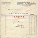 Factura Garage Fenosa Pontiac Mercedes Benz Rosario 1940