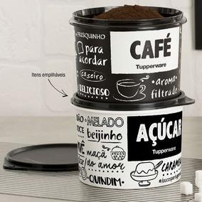 Tupperware Caixas Pote Para Açucar Café Com Medidor Brinde