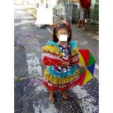 Linda Fantasia De Frevo Veste Até 8 Anos C/ Guarda Chuvinha