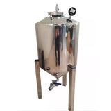 Fermentador 50 Lts Em Aço Inox. Modelo Churrasqueira