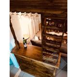 Barra Bar Mueble Desayunador Pino 120 Banquetas