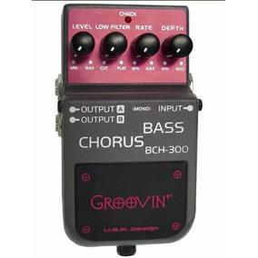Pedal Groovin Bch 300 Bass Chorus Baixo Carcaça Metal Bch300
