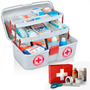 Maleta Caixa Primeiros Socorros E Medicamentos Com 2bandejas