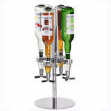 Dispensador Metalico De Licor Vino Tragos 4 Botellas Bar