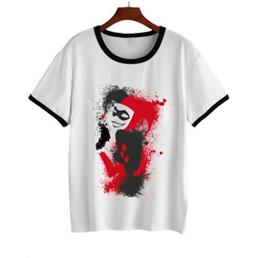 Remera Harley Quinn Rojo Y Negro