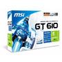 Placa De Video Geforce Msi Gt610 Ddr3 1gb Hdmi Vga Necxus Hd