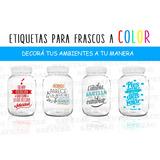 55 Etiquetas Frascos Transparentes Botellas Personalizadas