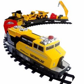 Cat Tren De Construccion Gigante Motorizado Con Luz Intek