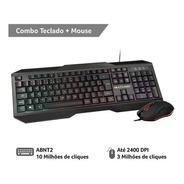Teclado E Mouse Gamer Led Rgb  2400 Com Fio Led Tc 239