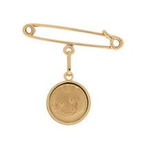 Alfinete E Medalha Batizado Ouro 18k Infantil