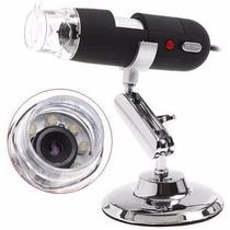 Microscópio Digital Usb Até 500x + Suporte + Software Co87