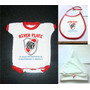 Pack Bebe X3 Body + Babero + Gorro River Plate