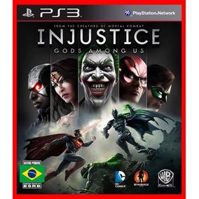 Injustice Gods Among Us Jogos Ps3 Psn Dublado Portugues Br