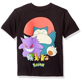 Camiseta Manga Corta De Pokemon Grupo De Pokebola Talla 7