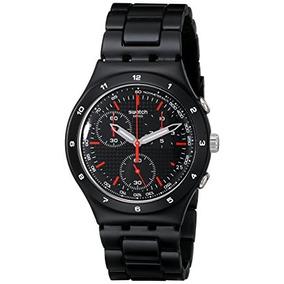 Swatch Unisex Ycb4019ag Aluminio Negro Esfera Del Reloj