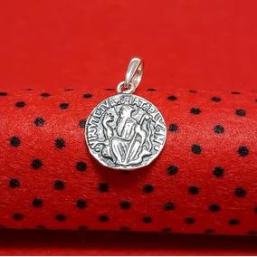 Pingente Medalha São Bento Prata Lei 925 Masculino Feminino