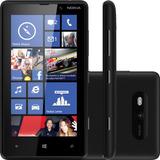 Smartphone Nokia Lumia 820 Preto - 3g - 8gb - 8mp - Tela 4.3