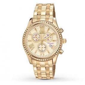 Reloj Citizen Fb136259p Mujer Crono Am Pm Fecha Dorado