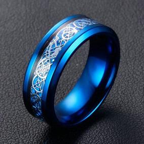 Azul Titanio Joyas Acero Compromiso Boda Banda De... (8)