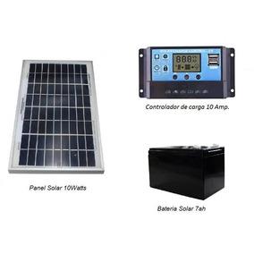 Panel Solar 10w Kit Sistema Aislado 12/24v, Doble Usb 5v