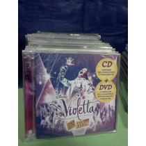 Violetta En Vivo Cd+dvd Nuevo Original Sellado Disney